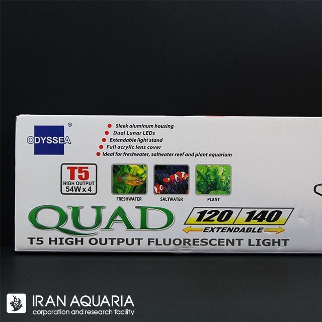 قاب فلیپ کواد تی 5، 4 لامپی (T5 ،4 Lamps-Flip Quad)