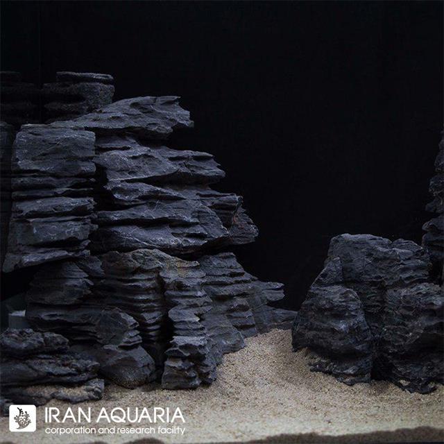 بلک مولتی لیر استون (black multi layer stone)