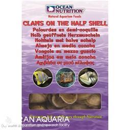 صدف نيم کفه (clams on the half shell)